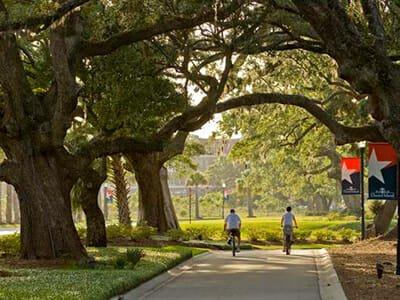 Bike path fun