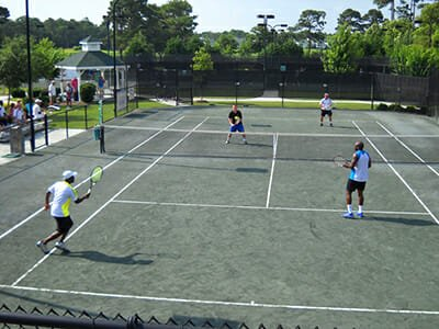 St James Plantation tennis courts and clubhouse