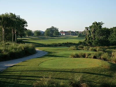 Golf course and green at Minto Sun City Center in Florida