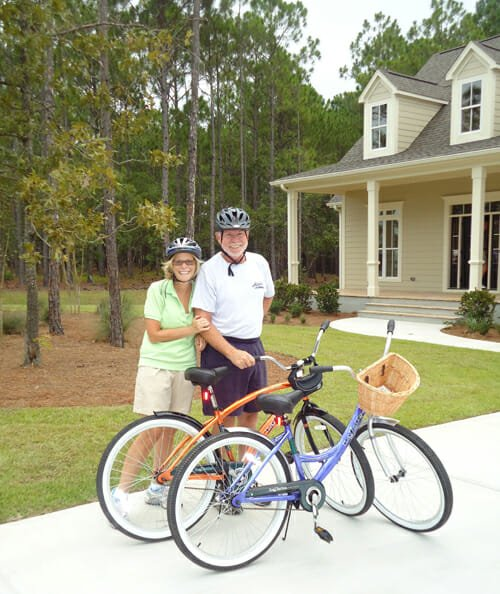 st james couple bicycling 100