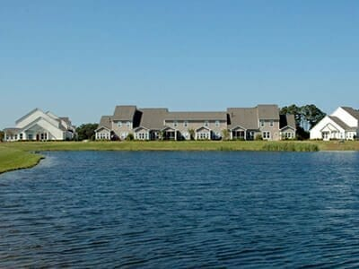 Waterfront homes at Rivermist in Southport, North Carolina