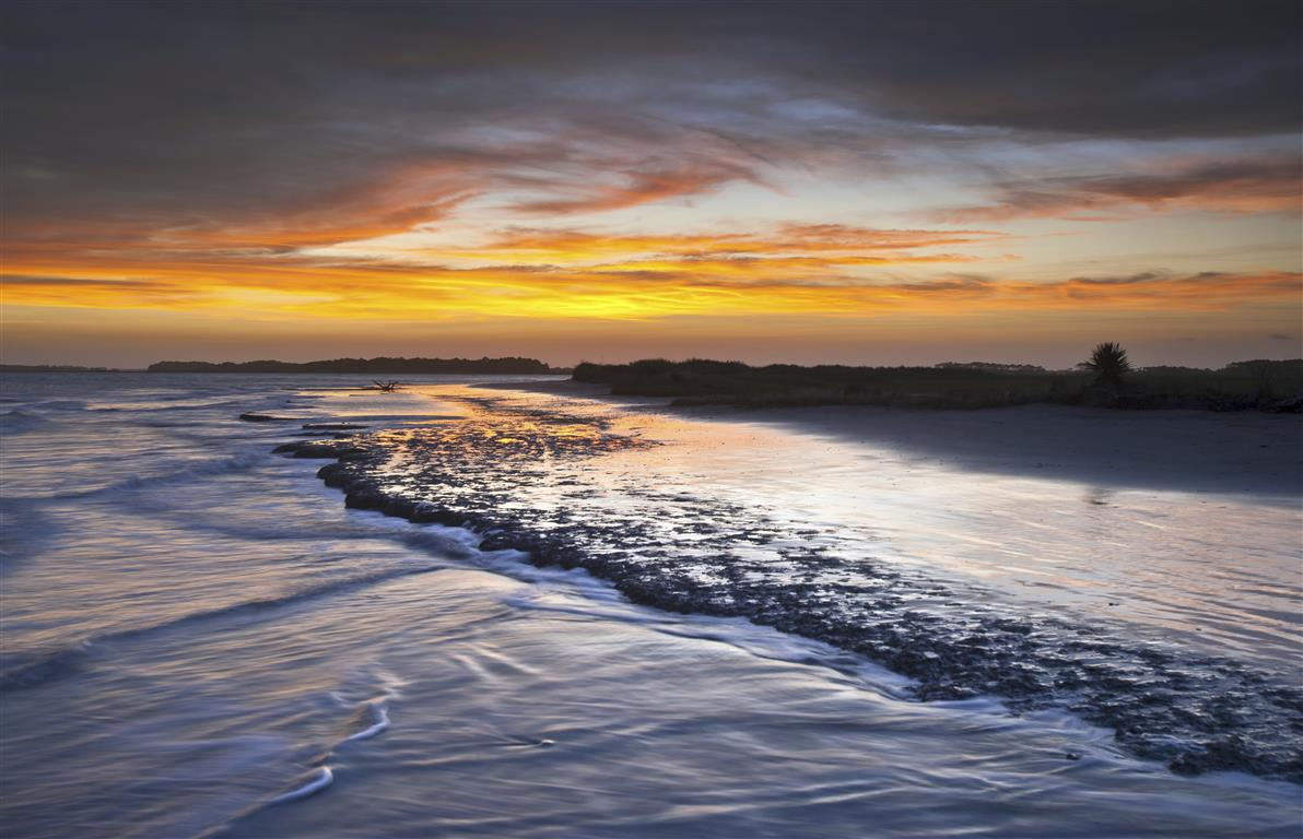 Folly Beach Ocean Sunset Charleston SC South Carolina Seascape L