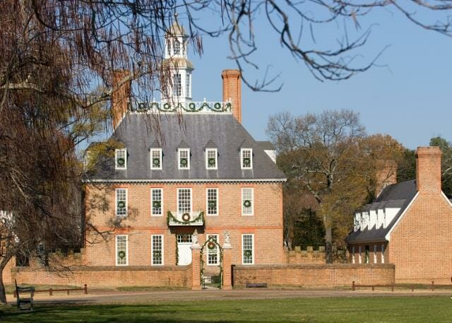 The Governor's Palace in Colonial Williamsburg, Va.