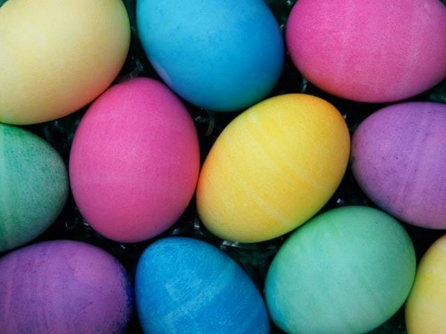 Photo, colored Easter egg texture, Color