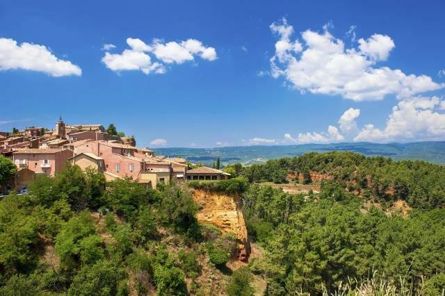Roussillon village near Gordes, Provence, France