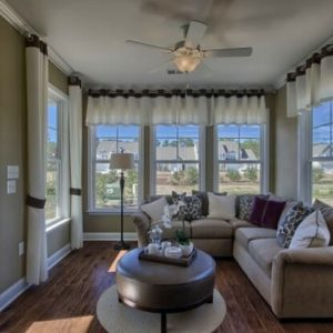 Best Places to Retire in North Carolina - Beacon Townes - Calabash NC - Sunroom in townhome