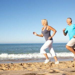Luxury-older-couple-fitness-beach