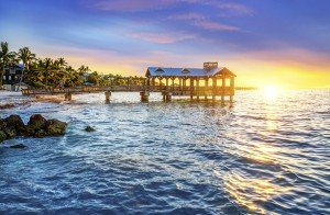 Florida's southernmost point, lying roughly 90 miles north of Cuba