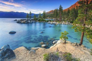 large freshwater lake in the Sierra Nevada Mountains