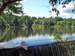 Mill Pond Spillway - Mill Pond at Eastman - Best Places to Retire in New Hampshire - Draperville