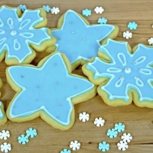 Holiday Desserts - Sugar Cookies - Snowflakes - Christmas Cookies