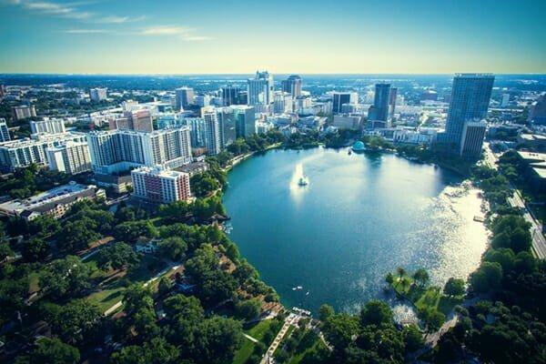 Lake Eola Park, Orlando Florida
