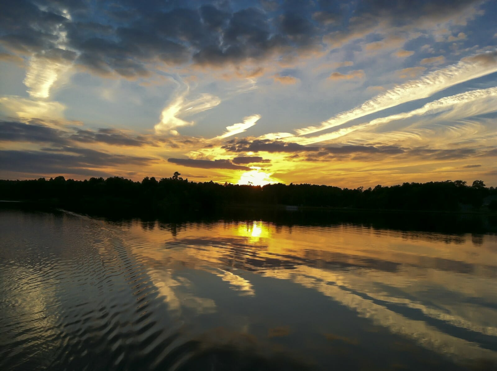 Sunset on the water